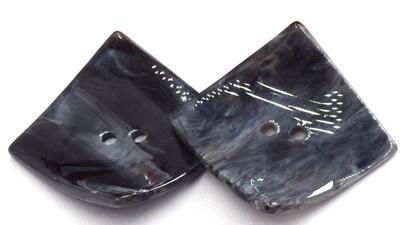 2 шт. креативные 2 отверстия кнопка смолы нерегулярные шитье большие квадратные пуговицы для одежды пальто одежды Швейные аксессуары - Цвет: G