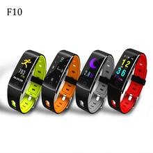 F10  Smart Wristband Heart Rate Blood Pressure Fitness Tracker Smart Bracelet IP67 Waterproof Sport Band For Android IOS Phones hununi hi11 pro bluetooth smart bracelet wristband fitness band sport fitness tracker heart rate blood pressure for ios android