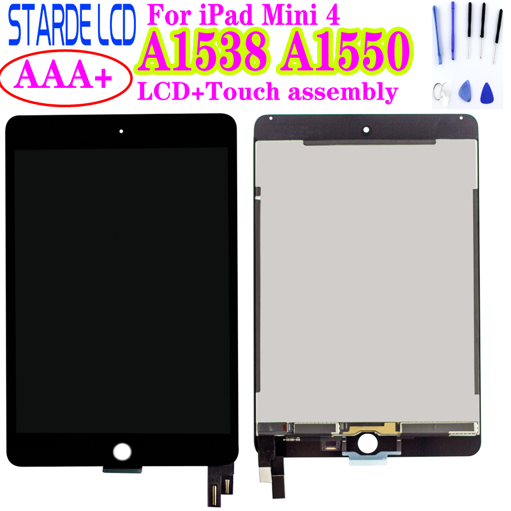 For iPad mini 4 A1538 A1550 White LCD Display Touch Screen Digitizer Assembly