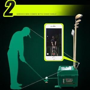 Image 4 - Multifunzionale Pallina Da Golf Automatico Server Pitching Macchina Robot Altalena Allenatore Può Contenere 60 100 Palle E 9 Golf Aste telaio Pole