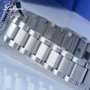 Image 5 - Lugyou San Martin 62Mas Mergulhador Relógio Automático dos homens Mecânicos Safira Aço Inoxidável Rotativa Bisel 20ATM Metal Pulseira SLN