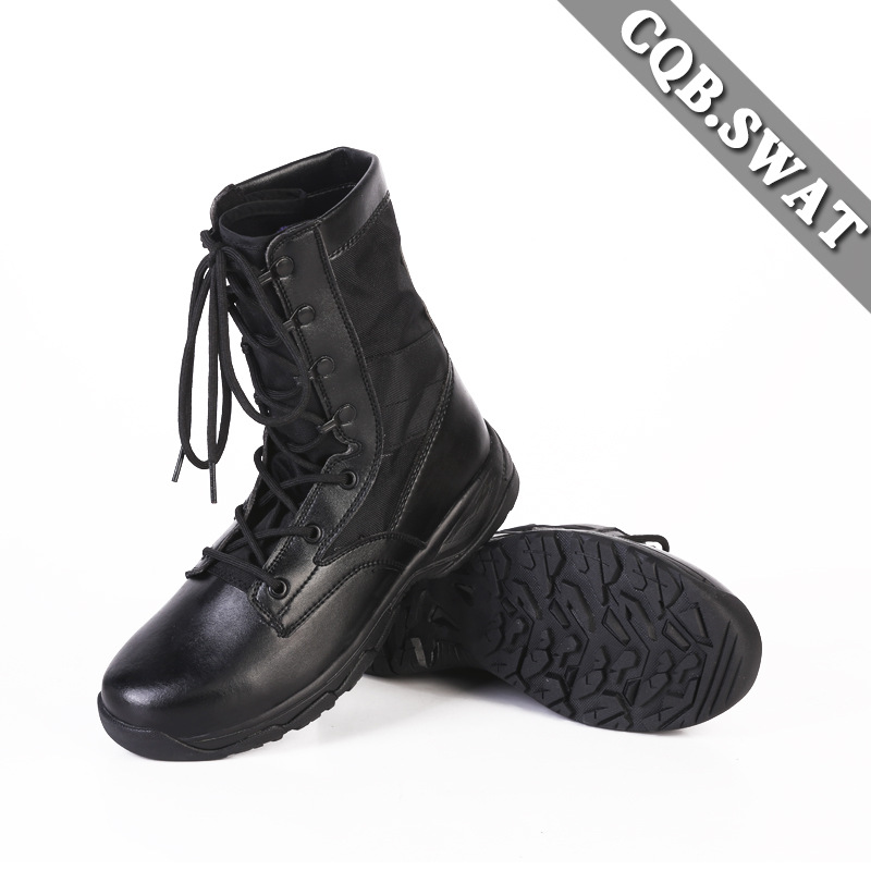 Ultra-Light Combat Boots CQB. Swat Canvas Lightweight Combat Boots Shock Absorption Hight-top Outdoor Tactical Boots Hiking Boot