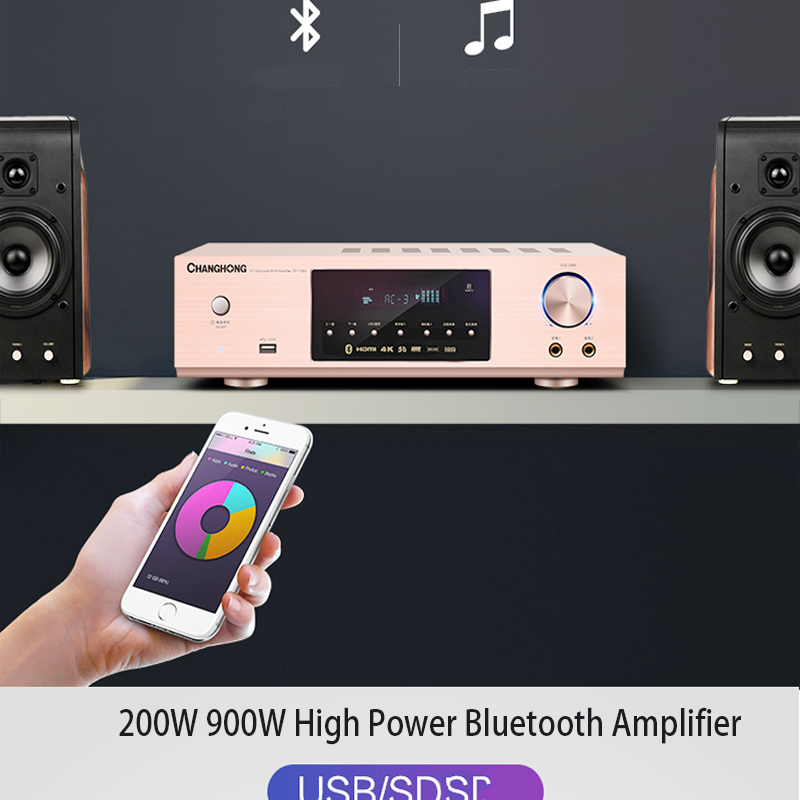KYYSLB 900W 220V Home Bluetooth <font><b>Amplifier</b></font> HD HDMI-ARC High Power <font><b>Amplifier</b></font> 5.1 <font><b>HIFI</b></font> Fever Digital Audio KTV Karaoke <font><b>Amplifier</b></font> image