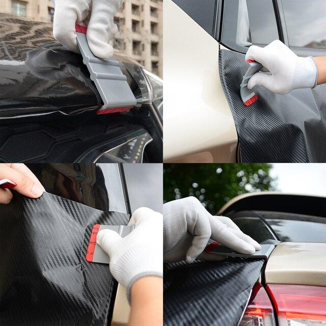 FOSHIO виниловая пленка из углеродного волокна, наклейка для автомобиля, набор инструментов, автомобильные аксессуары, авто Тонировка окон, ма...