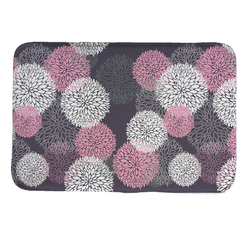 the geometric style Print Doormat Non-slip Floor Mat Pad kitchen Room Carpet Mats Tapis Pastoral Water Absorption Mat