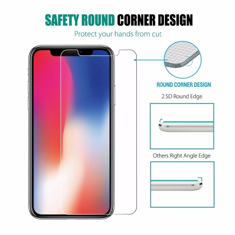 3PCS Clear Screen Protector Tempered Glass Case for iPhone 11 Pro XR XS MAX X 10