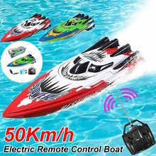 Controle remoto lancha elétrica rc barco de alta velocidade rádio corrida navio recarregável steerable barcos adultos rc brinquedo