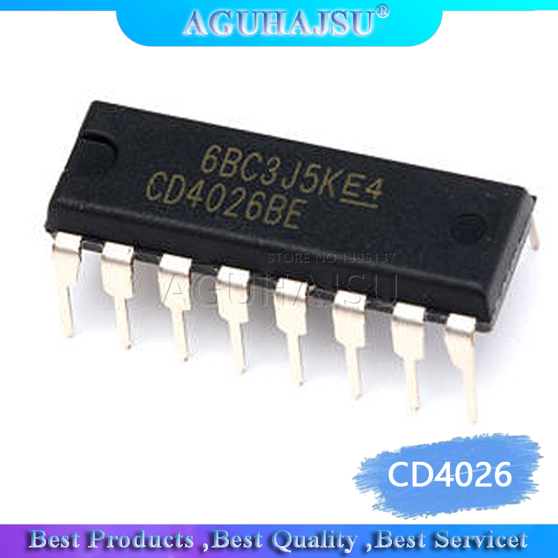 1pcs/lot CD4026 CD4026BE 4026 IC CMOS Counters Decade/Divider DIP-16 image