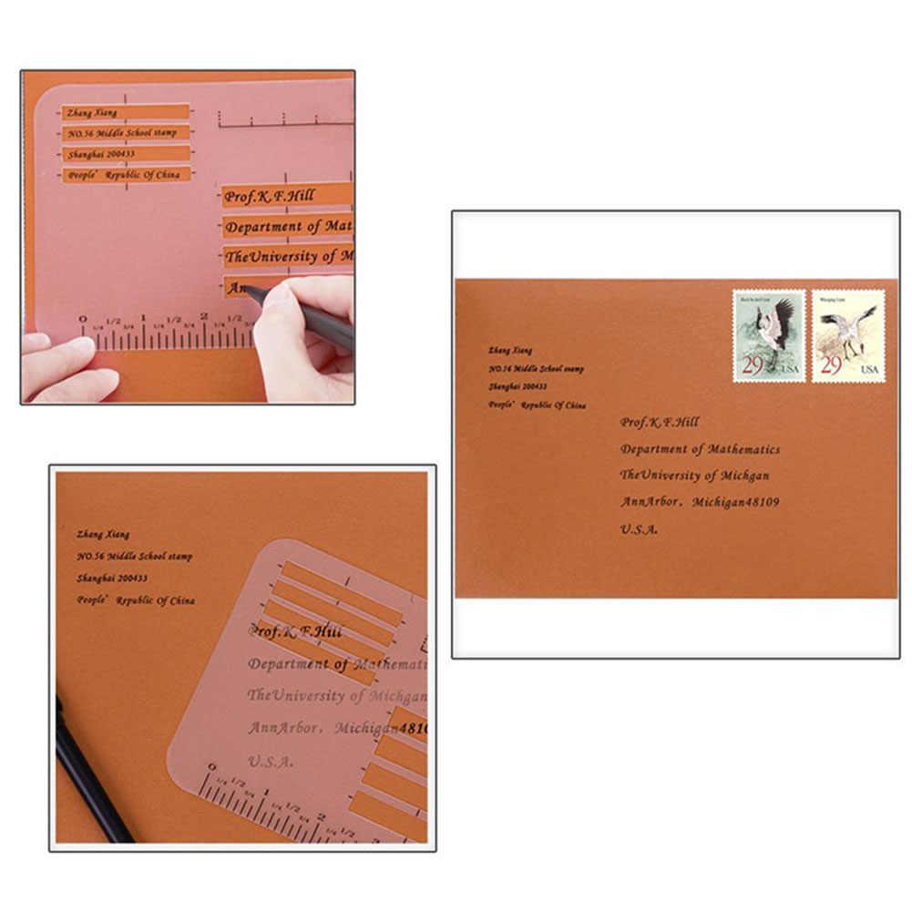 4 шт. упражнения на письмо Шаблоны линейки приглашение набор трафаретов для Craft