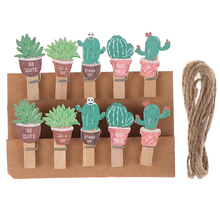 Paper Clips Wooden Craft Photo-Pegs Memo Kawaii Stationery Small Mini Cute 10pcs/Lot