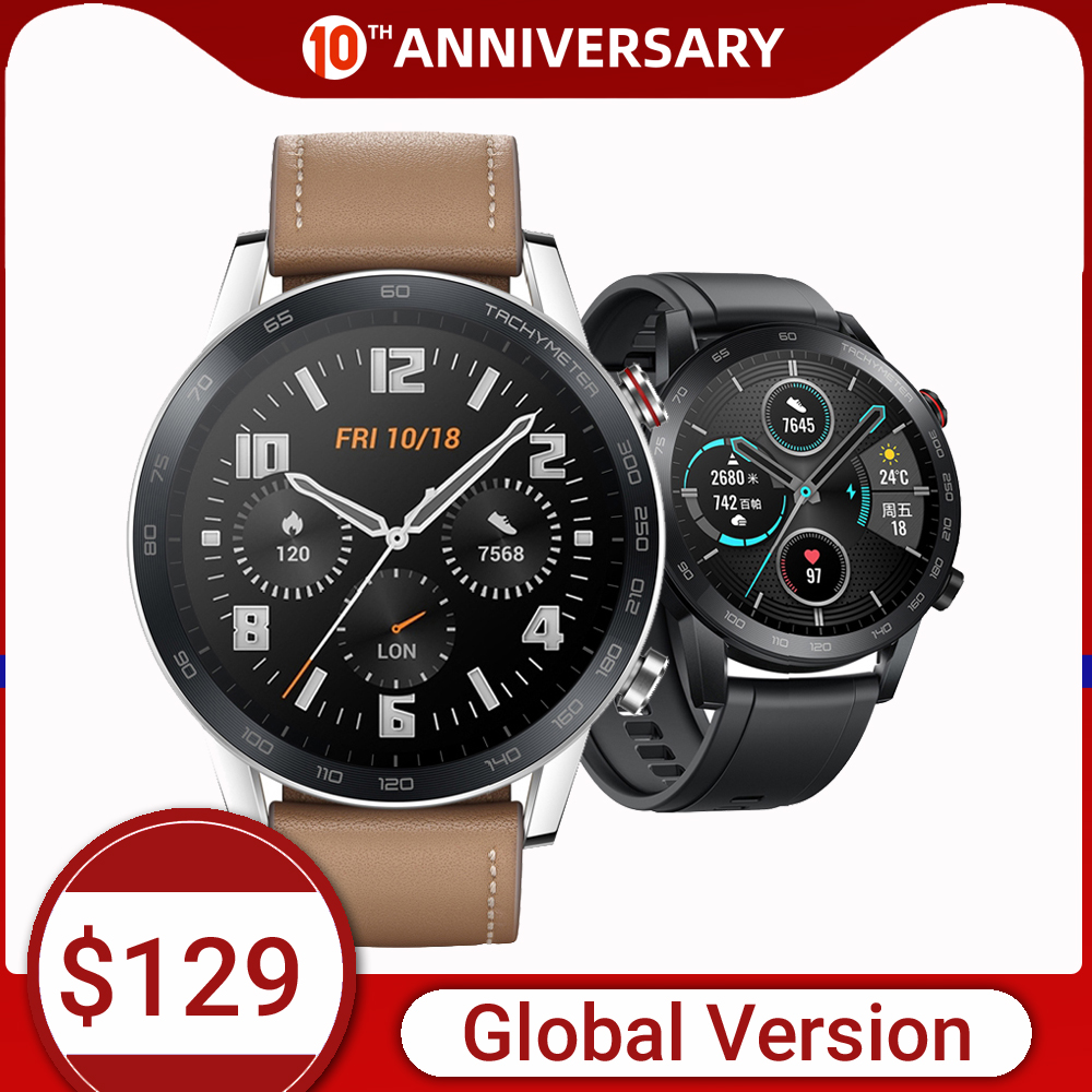 HONOR Watch Magic 2 Smart watch Bluetooth 5.1 Smartwatch Blood Oxygen 14 Days Phone Call Heart Rate For Android iOS on AliExpress