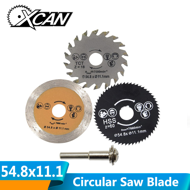 XCAN Out Diameter 54.8 Mm High Quality Mini Circular Saw Blade Wood Cutting Blade