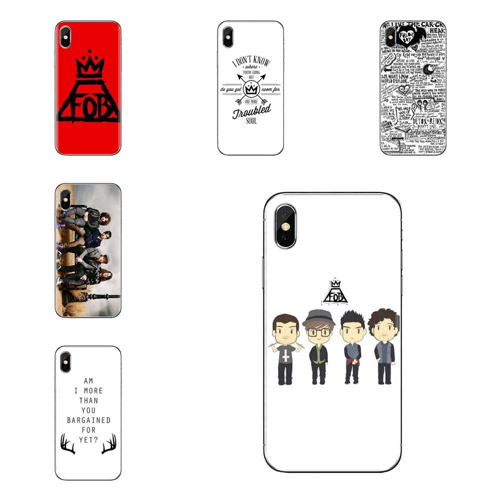 Para iPhone 5 XS Max XR X 4 4S 5S 5C SE 6 6S 7 8 Plus Samsung Galaxy j1 J3 J5 J7 A3 A5 fall out boy Macio Transparente Casos Covers