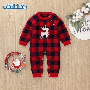 Image 3 - Baby Rompers Christmas Newborn Boys Pajamas Jumpsuits Autumn Long Sleeve Infant Kids Girls Overalls Winter Children Knit Clothes