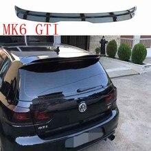 Para volkswagen golf mk6 gti spoiler 2010-2013 golf 6 gti spoiler qualidade abs material asa traseira cor traseira