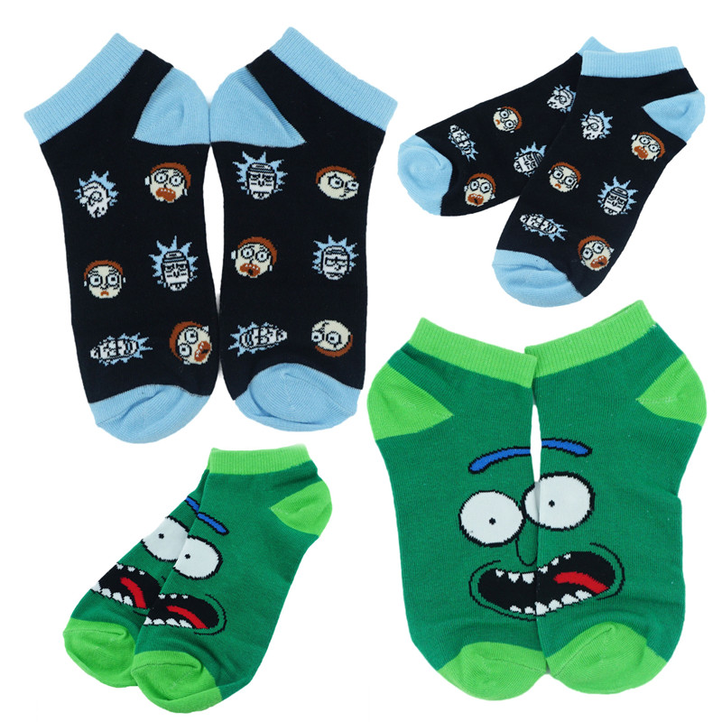 Anime Cartoon Pickle Short Socks Colorful Stockings Tight Cute Fashion Ankle Casual Dress Socks Cosplay Gift 1009