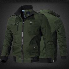 2020 trajes militares dos homens primavera outono algodão casual blusão casaco piloto do exército masculino bombardeiro jaquetas roupas de vôo de carga