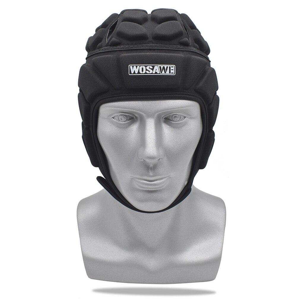 Pro Helmet EVA Shock-proof Headgear Goalkeeper Sports Helmet for Rugby Flag Football Soccer Goalkeeper & Goalie for Youth Adult