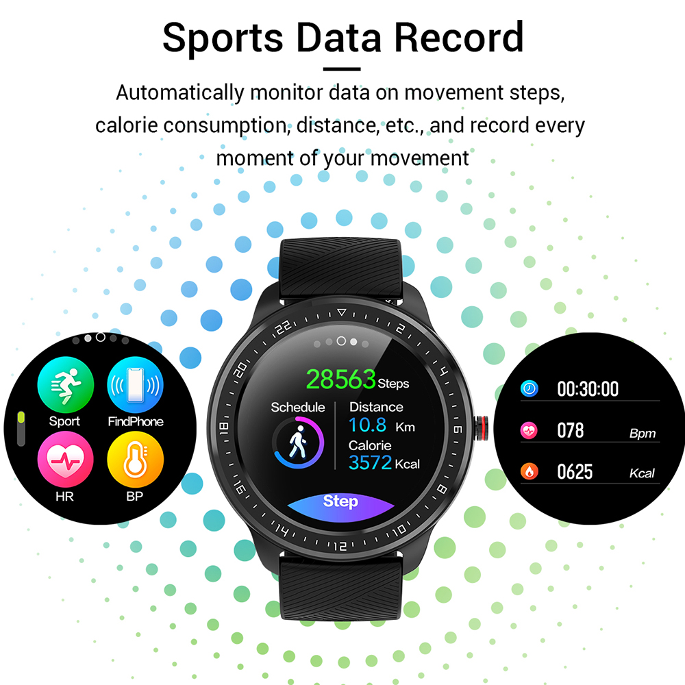 LEMFO Z06 Full Screen Touch Smart Watch Men IP67 Waterproof Heart Rate Blood Pressure Monitor For Android IOS Apple Phone Watch