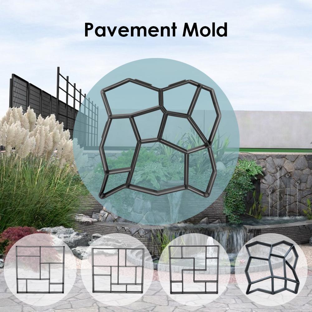 Garden Path Maker Pavement Mold DIY Manually Road Paving Cement Concrete Brick Mould Garden Stone Road for Garden Home