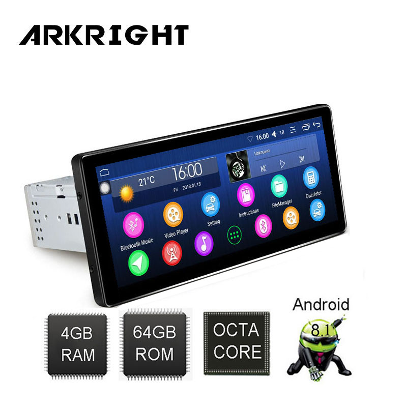 ARKRIGHT 8 8 1Din Android 8 1 Car Radio 4 64GB autoradio GPS Multimedia Player Hotspot