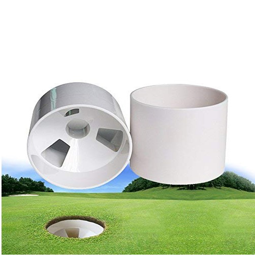 Premium Golf Hole Cup Plastic Putting Green Cup Training Aids Flag Holder Golf Accessories