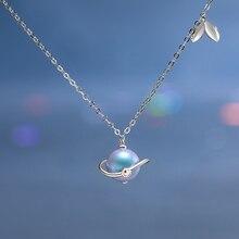 Ожерелье женское из серебра 925 пробы с цветным жемчугом