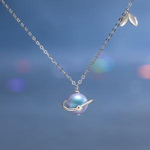 Image 1 - Thaya yaz gecesi rüyası tasarım kolye renkli inciler s925 gümüş gerdanlık kadınlar için zarif takı bayanlar hediye