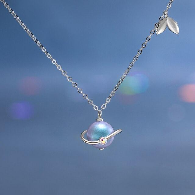 Thaya yaz gecesi rüyası tasarım kolye renkli inciler s925 gümüş gerdanlık kadınlar için zarif takı bayanlar hediye