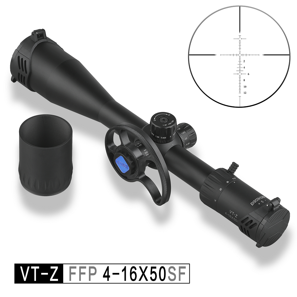 Discovery Rifle Scope VT-Z FFP 4-16X50SF Cheap First Focal Plane With New Involute Side Parallax Wheel
