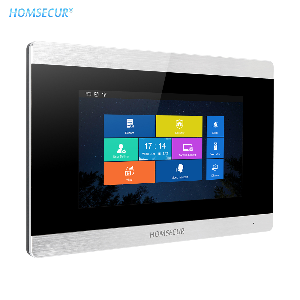 "HOMSECUR BM715IP-S 7"" Video Door Intercom Monitor With Touch Screen Surface Mount Supported For WIFI IP Video Door Phone System"