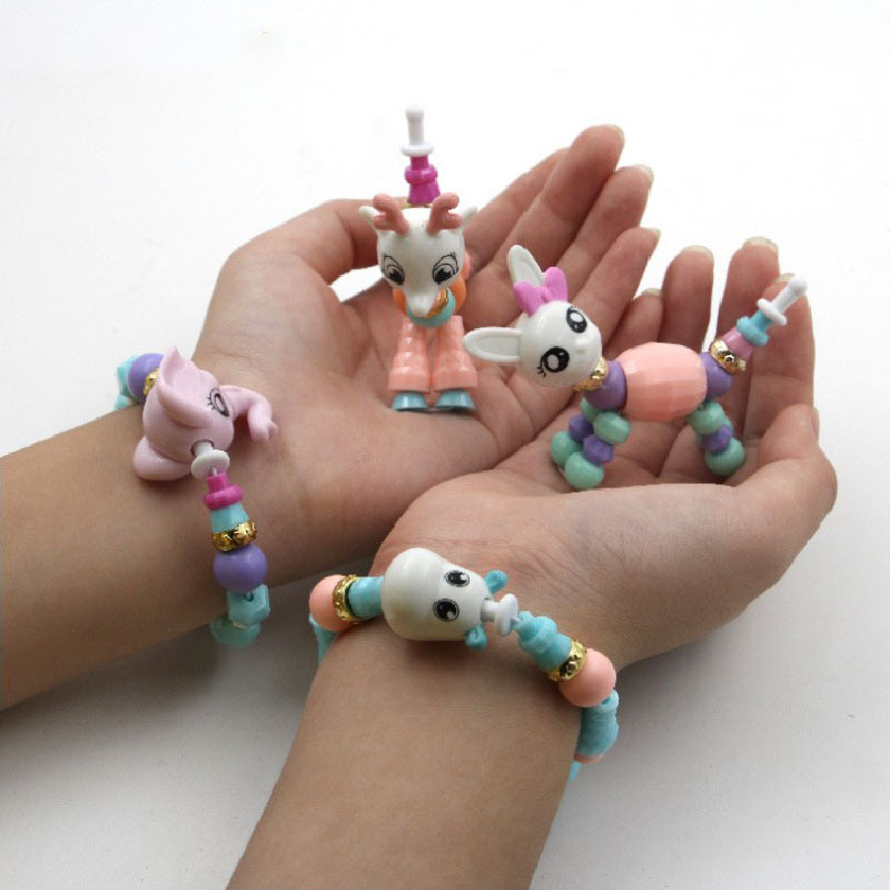 Creative DIY Flexible Bracelets Beaded Bracelet Flexible Magic Animal Transformation Shilly Pet Educational Children Handmade To