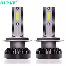 OLPAY 2PCS H7 LED 12000LM/PAIR Mini Car Headlight Bulbs H4 H1 H8 H9 H11 Headlamps Kit 9006 HB4 9005 HB3 9012 Auto Lamps