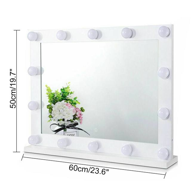 Hollywood Makeup Mirror Vanity Lighted Cosmetic Mirror with 14 LEDs Lights For Tabletop Bathroom Beauty Mirror Dressing Room 6