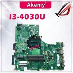 Dla For Acer V3-472 E5-471 E5-471G V3-472P Laptop płyta główna DA0ZQ0MB6E0 z I3-4030U CPU na pokładzie 100% w pełni przetestowana praca idealna