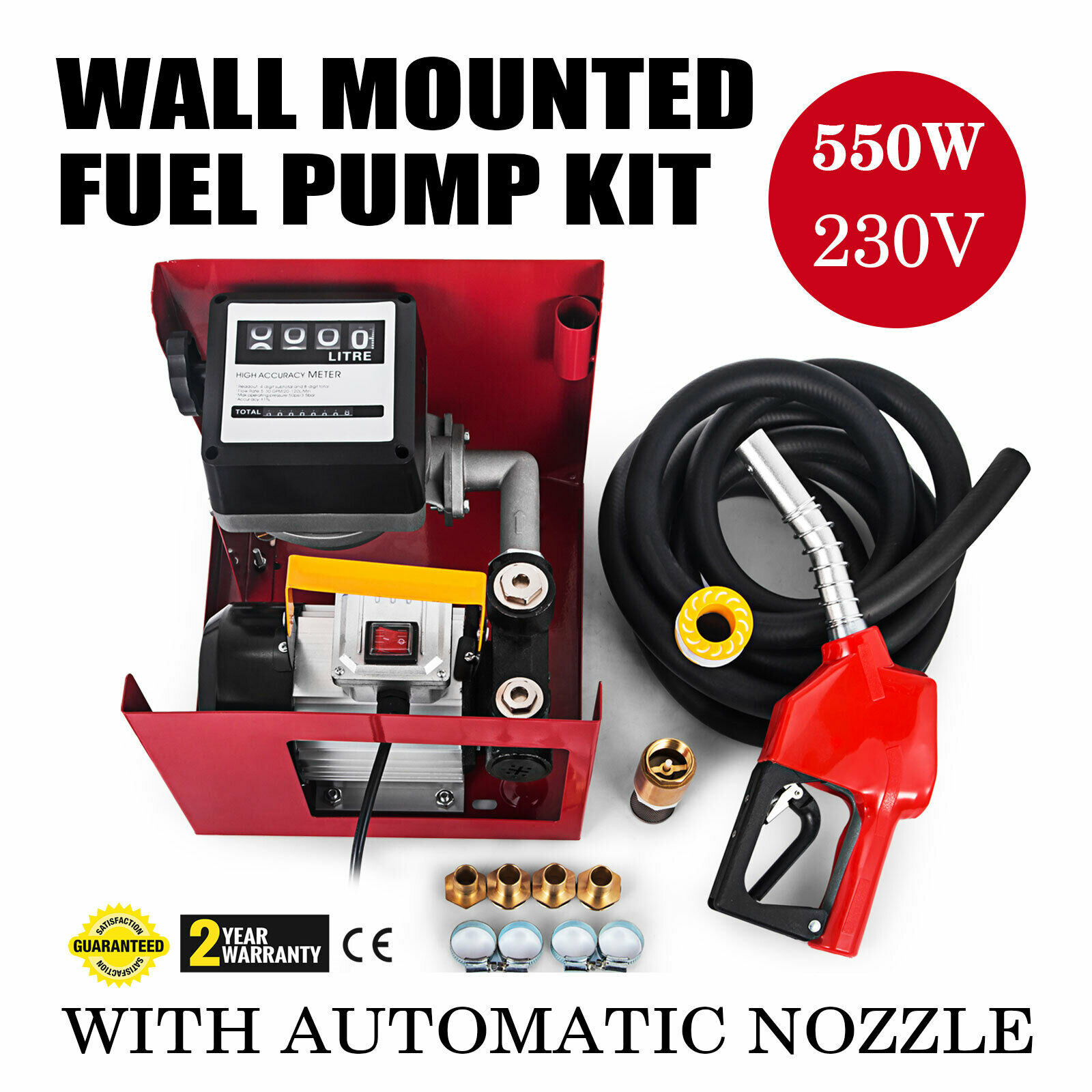 AUTOMATIC UPDATED Machine AC Metering Diesel Transfer Pump 230V WALL MOUNTED