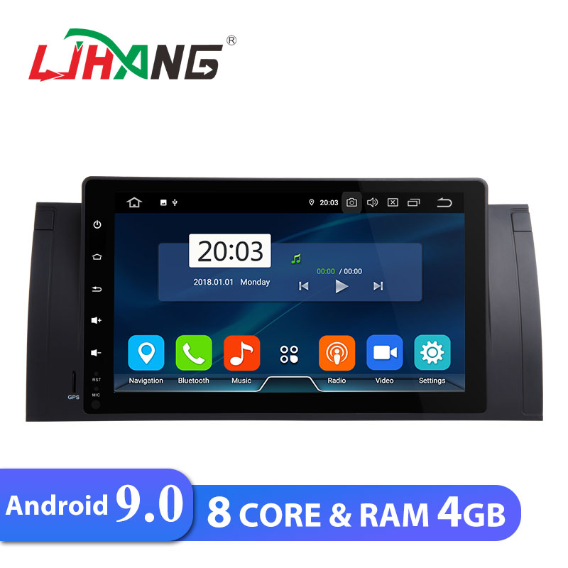 LJHANG 9 inch Android 9.0 Car DVD Player For BMW E39 E38 E53 M5 WIFI GPS Navigation 1 Din Car DVD Radio Stereo Automotive RAM 4G