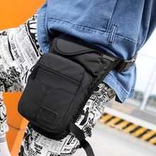 Leg Bag Nylon Men Drop Fanny Pack Motorcycle Riding Casual Shoulder Cross Body Thigh Male Hip Belt Waist Bags Thigh(China)