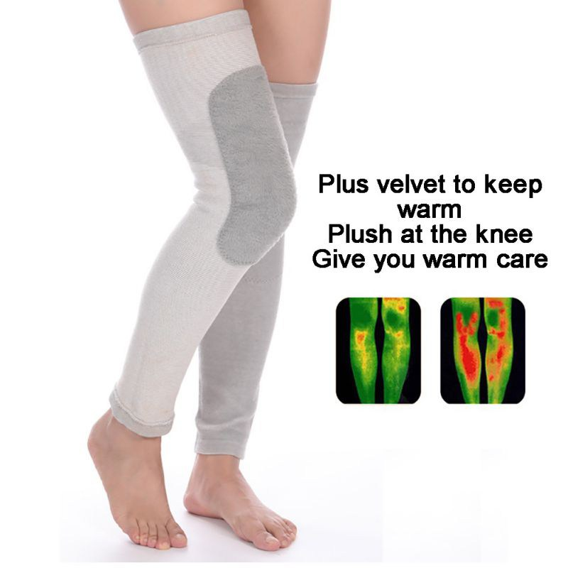 Compression Knee Sleeve Sports Running Lengthen Warmer Knee Pad Breathable Knee Brace For Men Women
