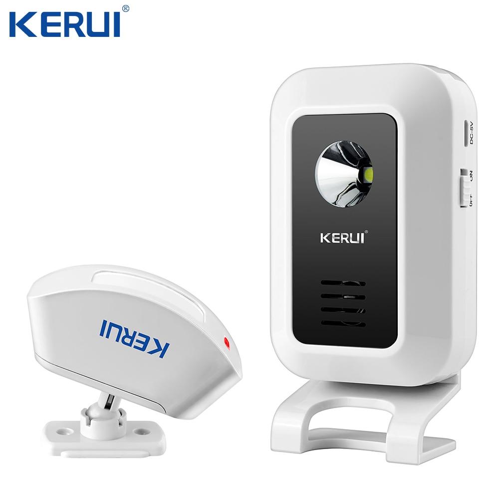 KERUI Wireless Doorbell  Welcome Alarm Burglar Night-Light  Remote Control Door Bell Alarm  For GSM Home Alarm System