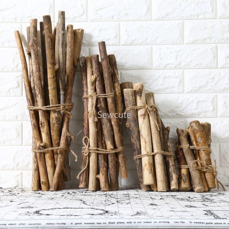 5 pçs madeira crua vara de madeira diy fazendo artesanato pendurado artesanal decoração para casa acessórios de casamento macrame 30 40 50 60 cm