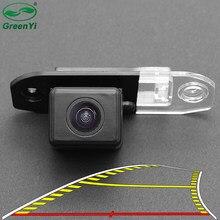 Hd 4089t veículo dinâmico trajetória linha de estacionamento vista traseira do carro reversa câmera backup para volvo s80 s40 s60 v60 xc90 xc60