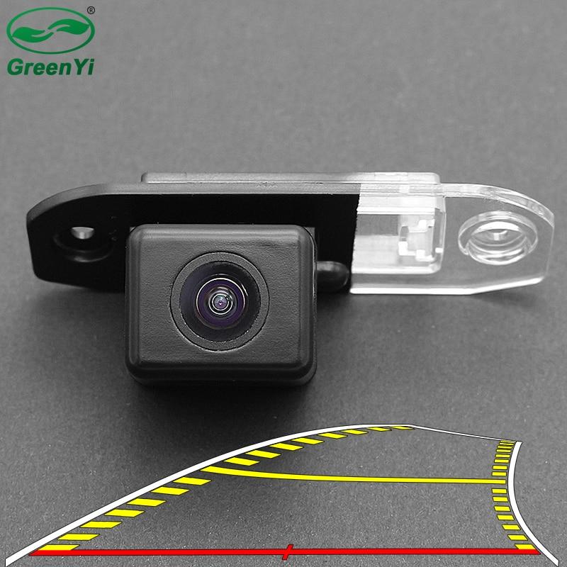 Hd 4089 t veículo dinâmico trajetória linha de estacionamento vista traseira do carro reversa câmera backup para volvo s80 s40 s60 v60 xc90 xc60