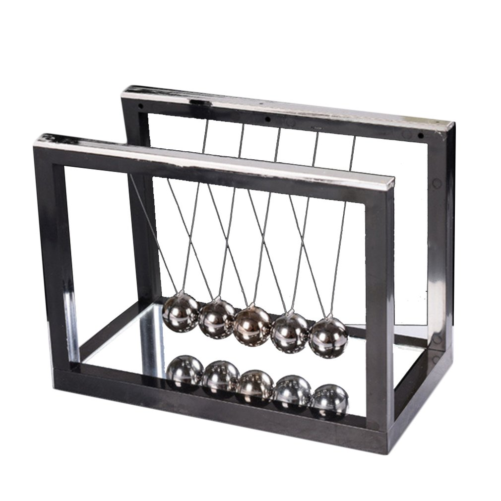 Newton Desk Table Decor Metal Cradle Pendulum Ball Physics Science Pendulum Steel Balance Ball Home Office Decoration