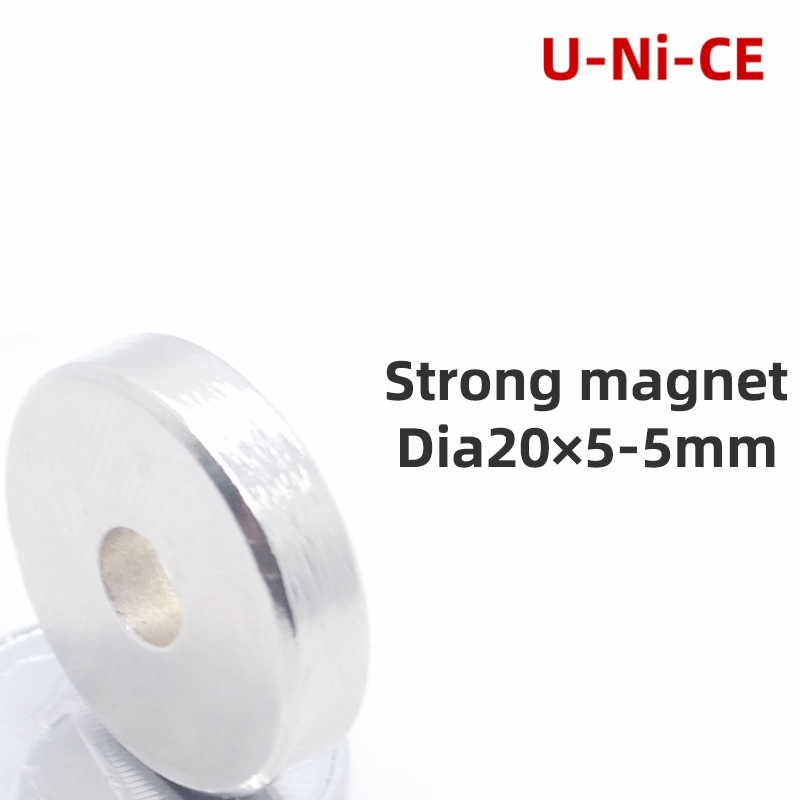 3/5 pcs 20x5-5 Neodymium Magnet 20mm x 5mm Hole N35 NdFeB Countersunk Ring Super Powerful Strong Permanent Magnetic imanes