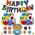 1 комплект, супергерой, щит, тема с блестками, воздушный шар, комбинация, потяните флаг, набор, свадебная тематическая вечеринка на день рожде...