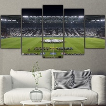 Hot Selling 5 Pieces Home Decor Print oil painting Wall Art Decorations Canvas, Juventus