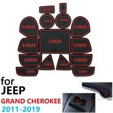 Anti Slip Coppa di Gomma Porta Cuscino Groove Zerbino per Jeep Grand Cherokee WK2 2011 ~ 2019 2013 2015 2017 accessori Zerbino per il telefono