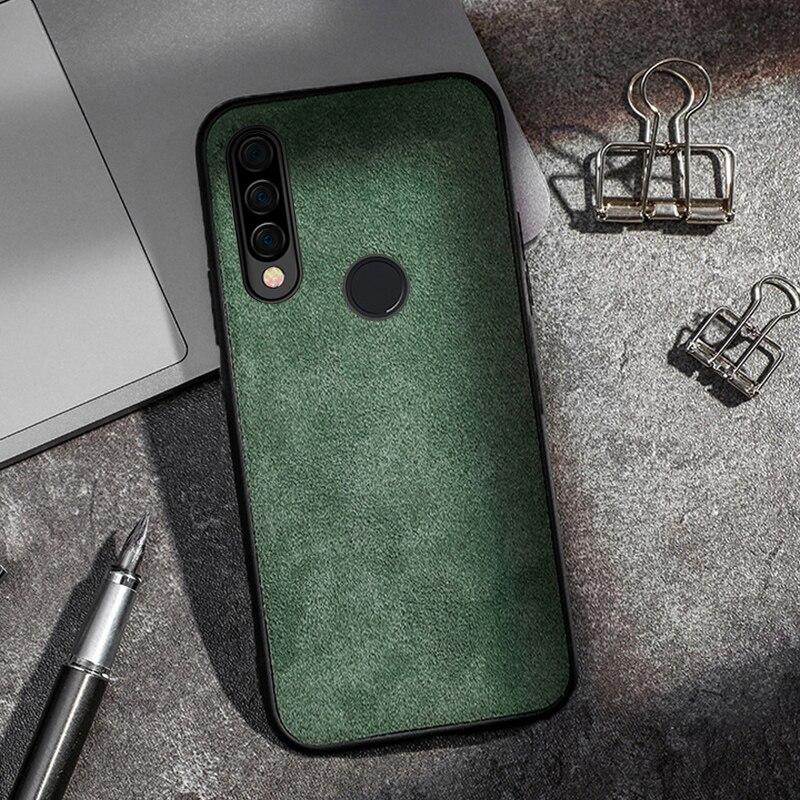 Cuir véritable daim téléphone étui pour huawei P20 lite P30 pro Mate 20 30 lite Pro P smart 2019 pour Honor 8X9 9X10 lite 20 étui