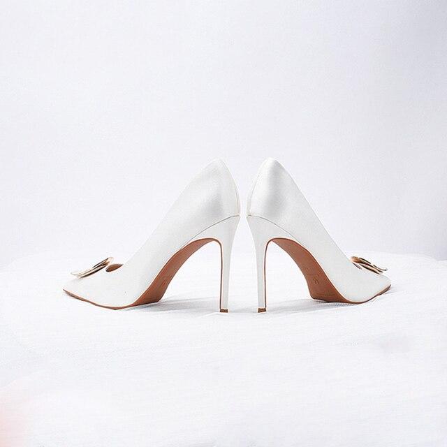 Свадебные  женские туфли на высоком каблуке 2